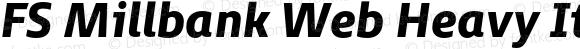 FS Millbank Web Heavy Italic