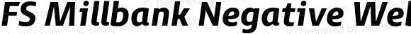 FS Millbank Negative Web Heavy Italic