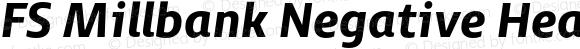 FS Millbank Negative Heavy Italic