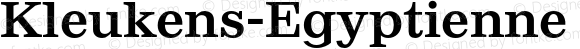 Kleukens-Egyptienne Medium