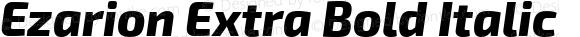 Ezarion Extra Bold Italic