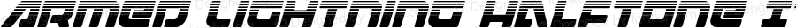 Armed Lightning Halftone Italic Italic Version 1.1; 2019