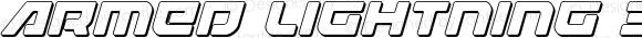 Armed Lightning 3D Italic Italic Version 1.1; 2019