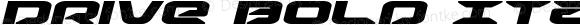 Drive Bold Italic