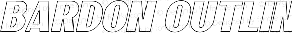 Bardon Outline Italic