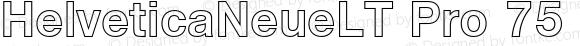 Helvetica Neue LT W05 75 Bd Ou