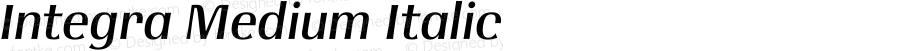Integra Medium Italic