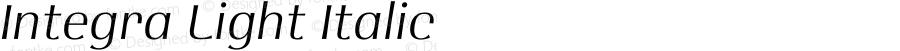 Integra Light Italic