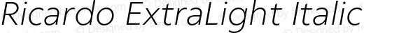 Ricardo ExtraLight Italic