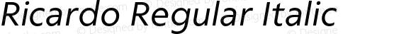 Ricardo Regular Italic