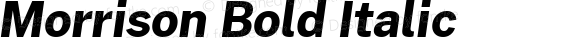 Morrison Bold Italic