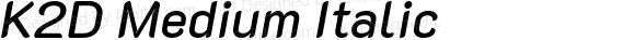 K2D Medium Italic