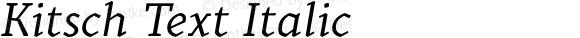 Kitsch Text Italic