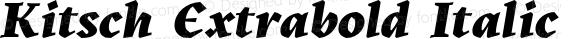 Kitsch Extrabold Italic
