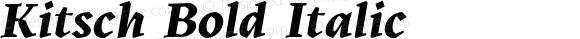 Kitsch Bold Italic