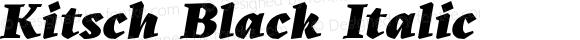 Kitsch Black Italic