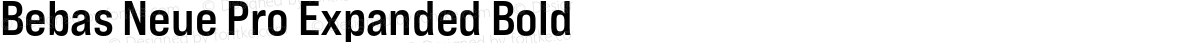 Bebas Neue Pro Expanded Bold