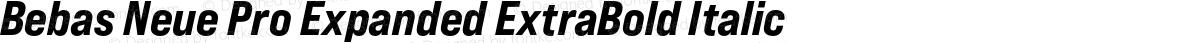 Bebas Neue Pro Expanded ExtraBold Italic