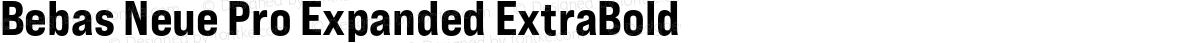 Bebas Neue Pro Expanded ExtraBold
