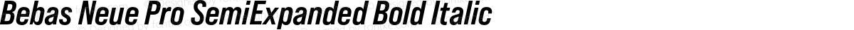 Bebas Neue Pro SemiExpanded Bold Italic