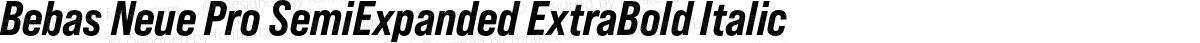 Bebas Neue Pro SemiExpanded ExtraBold Italic