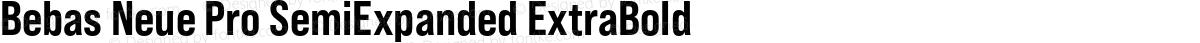 Bebas Neue Pro SemiExpanded ExtraBold