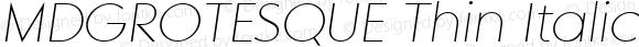 MDGROTESQUE Thin Italic