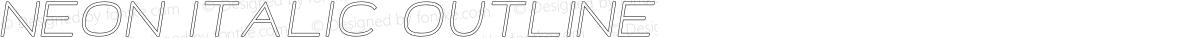Neon Italic Outline