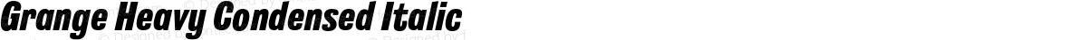 Grange Heavy Condensed Italic