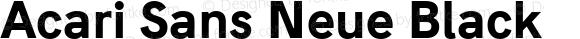Acari Sans Neue Black