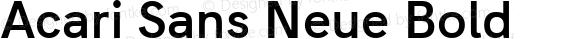 Acari Sans Neue