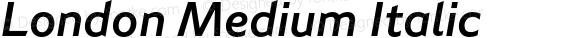 London Medium Italic