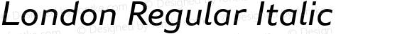 London Regular Italic