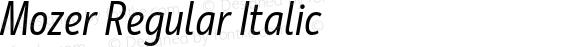 Mozer Regular Italic