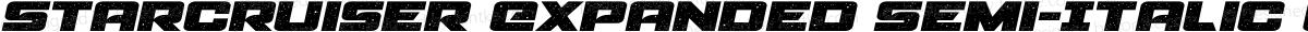 Starcruiser Expanded Semi-Italic Expanded Semi-Italic