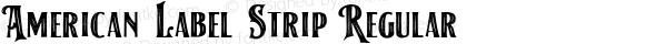 American Label Strip