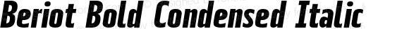 Beriot Bold Condensed Italic
