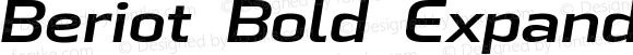 Beriot Bold Expanded Italic