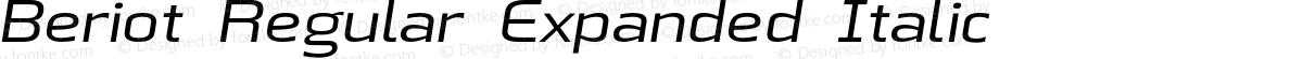 Beriot Regular Expanded Italic