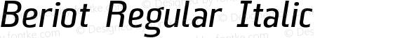 Beriot Regular Italic