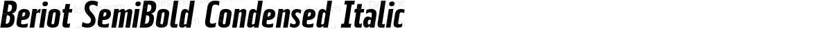 Beriot SemiBold Condensed Italic