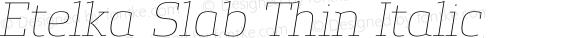 Etelka Slab Thin Italic