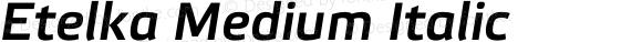 Etelka Medium Italic