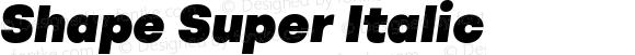 Shape Super Italic