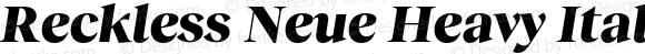 Reckless Neue Heavy Italic