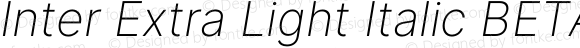 Inter Extra Light Italic BETA
