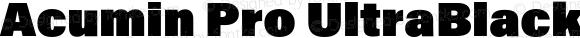 Acumin Pro UltraBlack