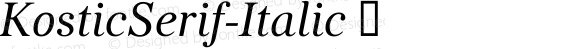 KosticSerif-Italic ☞