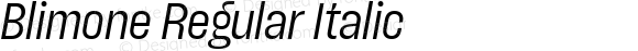 Blimone Regular Italic