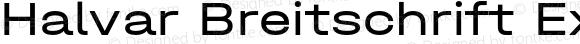 Halvar Breitschrift Expanded
